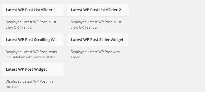 post-widgets