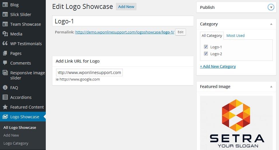 WP Logo Showcase Responsive Slider - Documentation - WP